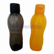 Tupperware Eco Bottle Flip Top 1L Black and Yellow ( Set of 2 )