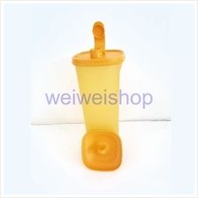 Tupperware Orange Fridge water Bottle 2L with Free Strainer