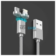 Magnetic Cable USB Braided LED Metal iPhone Lightning Android MicroUSB