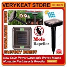 New Solar Power Ultrasonic Waves Mouse Mosquito Pest Insects Repeller