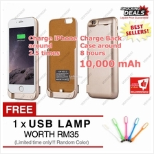 New iPhone 6 6s Plus Battery Backup Charger Case Power Bank 10000mAh