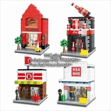 Lego Compatible HSANHE 6412-6415 Mini DIY Street