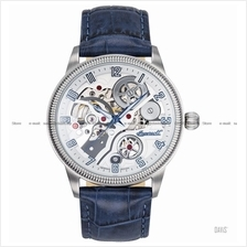 INGERSOLL IN7220WH Auto Becknalls Skeleton M-White Blue Leather LE