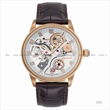 INGERSOLL IN7220RWH Auto Becknalls Skeleton M-Rose White Leather LE