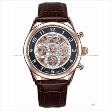 INGERSOLL IN1413RBK Auto Mana Cal Skeleton W-Rose Black Leather LE