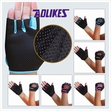 Sports Gloves Support Protector Workout Fingerless Arm Protection