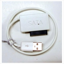 USB to SATA Laptop CD DVD ROM Cable Optical Drive Adapter Caddy
