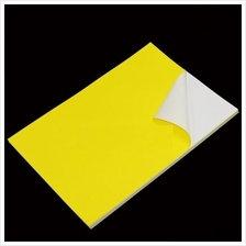 Yellow PVC Sticker A4 100's Waterproof/Tearproof *Free Shipping