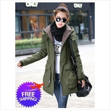 Korean Fashion Women Hooded Cotton Autumn Winter Jacket Coat)