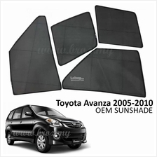 Custom Fit OEM Sunshades/ Sun shades for Toyota Avanza 2005-2010 (6PCS