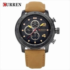 Curren 8190 Men's Military Fashion Leather Strap Watch