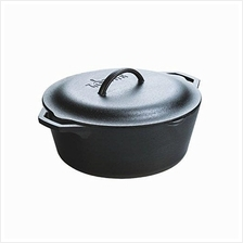 Lodge L10DOL3 Dutch Oven with Dual Handles, Pre-Seasoned, 7-Quart