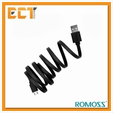 Romoss 1M Fast Charging  & Data Sync Micro USB Charging Cable - Black