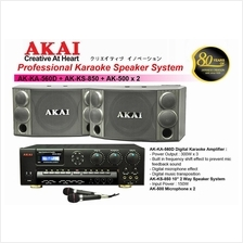 AKAI AK 560D Karaoke Amplifier + AK 850 Speaker System 2 Unit Full Set