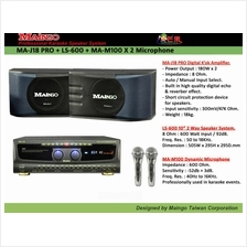 MAINGO MA-J18 Karaoke Amplifier + LS600 Speaker System 2 Unit Full Set