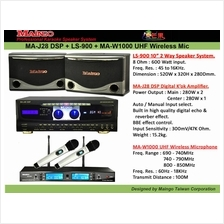 MAINGO MA-J28 Karaoke Amplifier + LS900 Speaker System 2 Unit Full Set