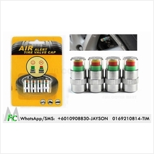 Tyre Pressure Monitor Valve Cap 4 Pieces For Car Or Motorcycle