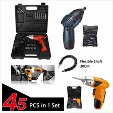 45 Pcs in 1 Cordless Electric Screwdriver Drill Tools Set Home Wood