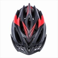 60CM 23 HOLES ADULT SAFETY BICYCLE SEMI-GLOSS VENTS HELMET (RED/YELLOW)