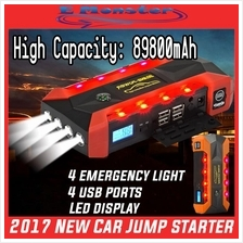 Car Jump Jumper Starter Backup Battery USB Power Bank 50800mAh