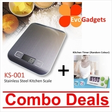 EvoGadgets Stainless Steel Kitchen Scale / Scales (Combo Deals)