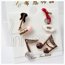 Musical Fashion three-piece Music Notes Earrings