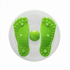 Magnetic Waist Twister Board or Trimmer with foot massage (Green)