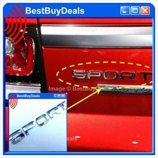 RANGE ROVER SPORT 3D Chrome Car Badge Decal Emblem Trunk Side Logo Rep