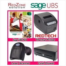 UBS Point of Sales System + Receipt Printer + Barcode Scanner + Drawer