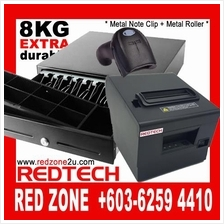 Durable Cash Drawer + Network Thermal Printer + Laser Barcode Scanner