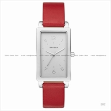 SKAGEN SKW2568 Women's Hagen 3-hand Rectangular Leather Strap Red