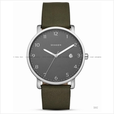 SKAGEN SKW6306 Men's Hagen Date Leather Strap Green