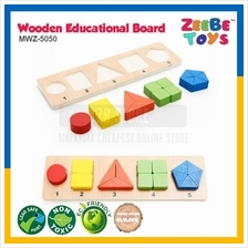ZEEBE TOYS Wooden Brick Educational Toy Learning Shape Number MWZ-5050