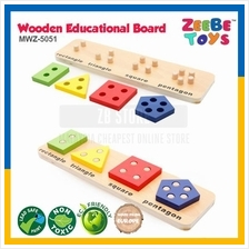 ZEEBE TOYS Wooden Brick Educational Toy Learning Shape Colour MWZ-5051