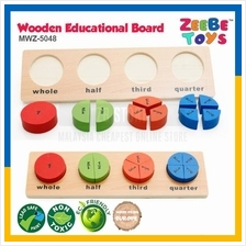ZEEBE TOYS Wooden Brick Educational Toy Learning Math Fraction MWZ5048