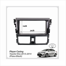 Double Din Car DVD Player Casing Toyota Vios 2013-2014(Piano Black)