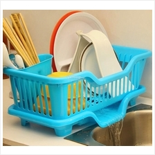 Side Dish Drainer Plate Basin Sink Water Drain Rack With Holder