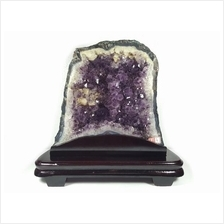 Amethyst Crystal Geode Cave  (S) - Purple Crystal Cavity or Basin