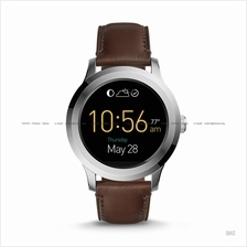 FOSSIL FTW2119 Men's Q Founder 2.0 Touchscreen Leather Strap Brown