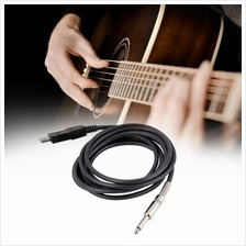 3M Guitar Bass 1/4' USB TO 6.3mm Jack Link Connection Instrument Cable..