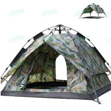 NEW 3~4 Person Outdoor Camping Tent Army Green Dual Use Pergola