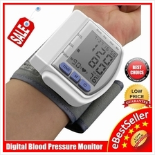 NEW Digital Wrist Blood Pressure LCD Monitor Heart Beat Meter CK-102s