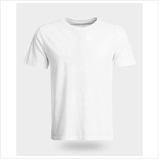 100% Cotton White plain T-shirt XS to 5XL