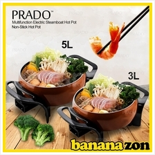 PRADO Multifunction Electric Steamboat Hot Pot Non Stick Pan 3L or 5L