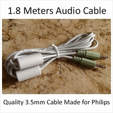 Quality 3.5mm Male to Male Stereo Audio Auxiliary AUX Cable 1.8 Meters