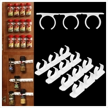 4 Sets Kitchen Clip Spice Gripper Jar Rack Storage Holder Wall Cabinet..