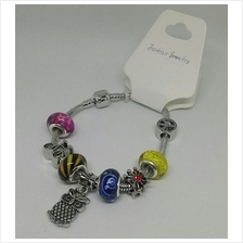 Pandora Styles Charm Bracelet Bangle Glass Beads - Random Charms