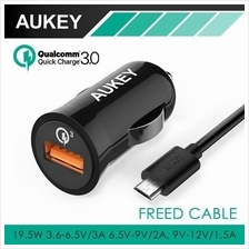 Original AUKEY Qualcomm Quick Charge 3.0 3-in-1 Mini Car Charger
