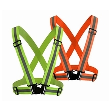 SAFETY VEST (ELASTIC) WITH 4 POINT ADJUSTABLE GREEN