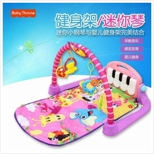Infant Baby Discover and Grow Kick Play Piano Gym Mat (Pink)